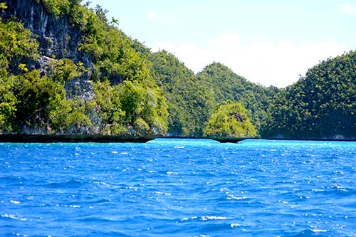 blue waters of palau