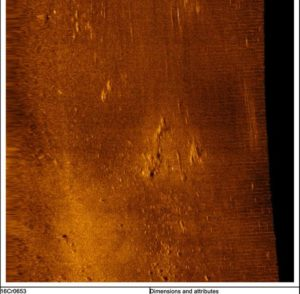 side scan sonar image courtesy of University of Delaware