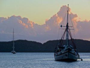 Sunset at Sam's in Palau