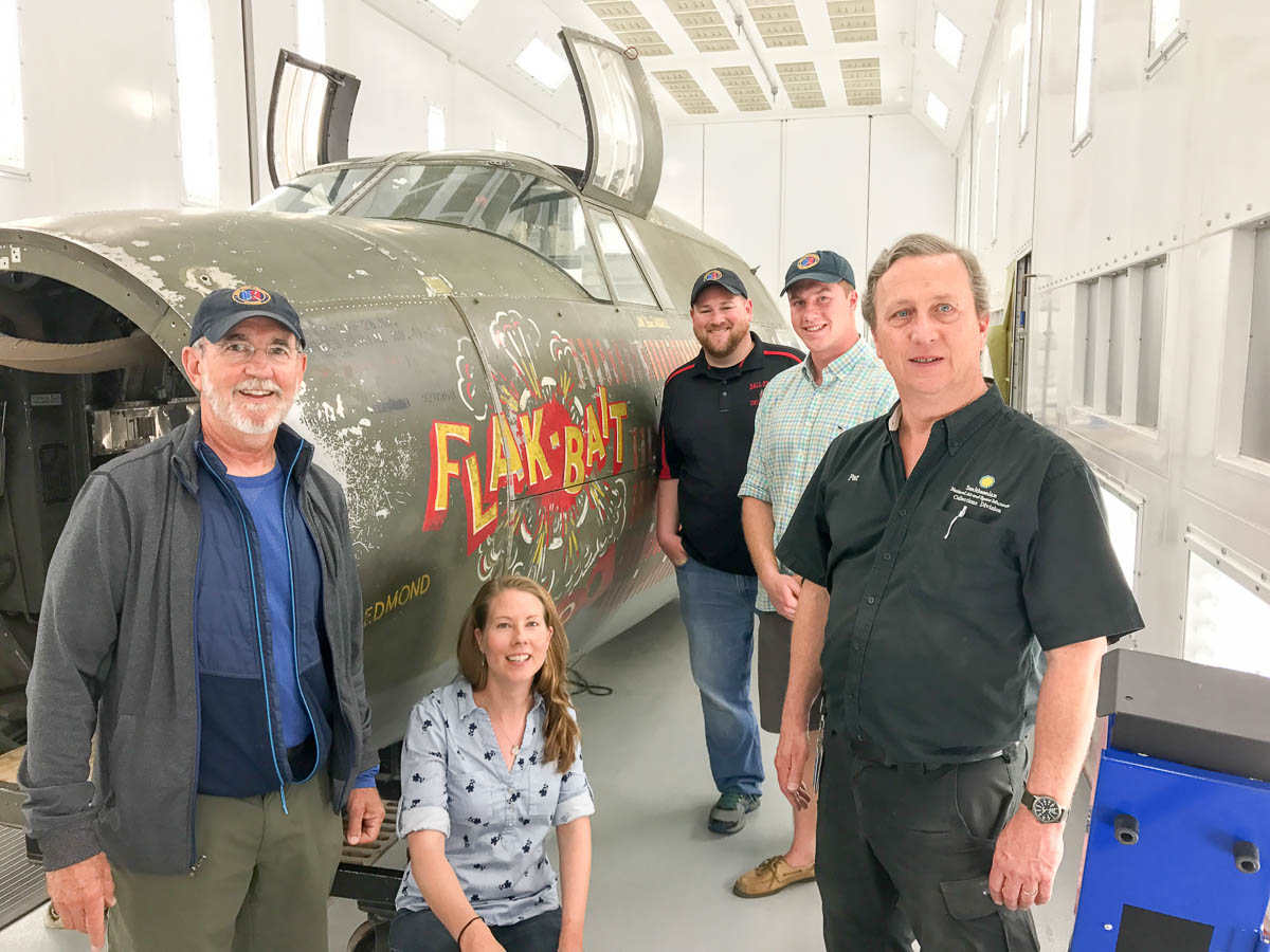Bent prop crew visits air and space museum b-26 bomber flak bait
