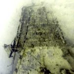 bow of sunken wwii vessel in palau