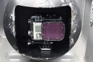 GoPro front mounted camera on the REMUS Sonar
