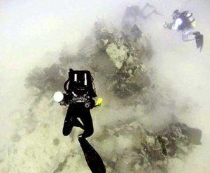 Bill and Dan Freidkin diving the Hellcat