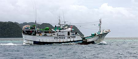 long line fishing vessel in palau