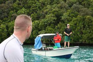 boat meeting in palau
