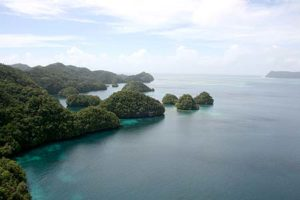 Helicopter view of Palau islands never looked so pretty