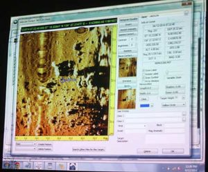side scan sonar image looking for wwii aircraft in palau with bentprop.org