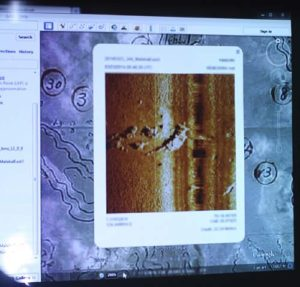 sonar image of tbm avenger