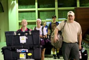 stockbridge ROV students arriving in palau airport