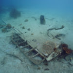 The partial wing of a B-25 discovered and documented by Project Recover in Papua New Guinea.
