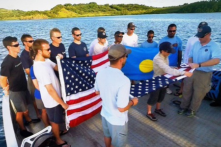 Project Recover holds a flag ceremony for missing in action.