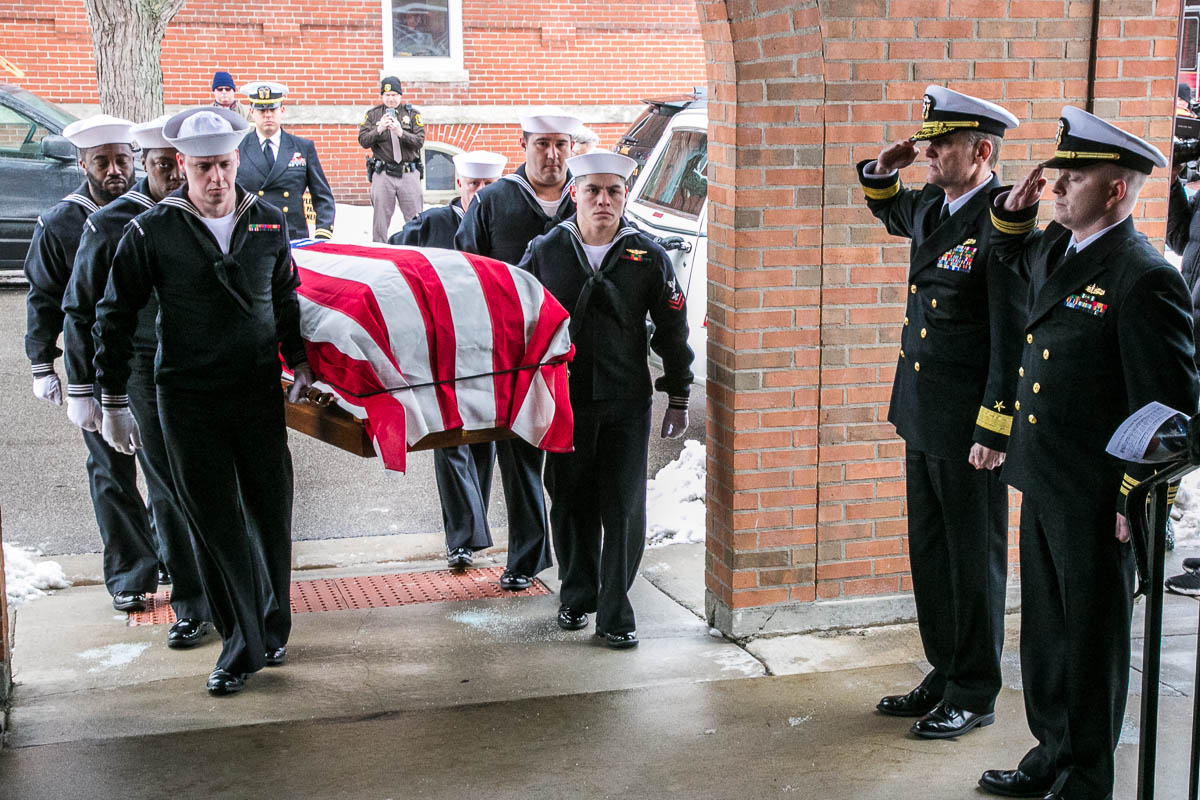 "Navy Honor Guard Bringing Bud home during the TheRepatriation of Albert P. ""Bud"" Rybarczyk, MIAs come home- Photo By Harry Parker Photography"
