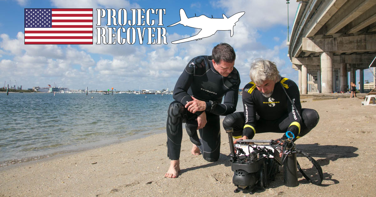 bentprop teammates jeff and charlie preforming last minute checks on sonar equipment before dive using technology for search recovery of MIA- Photo By Harry Parker Photography