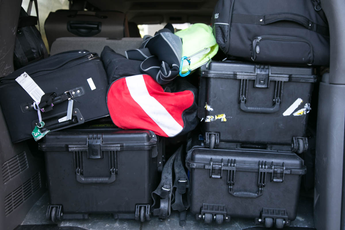 tons of equipment on bentprop team training using technology for search rescue of MIA- Photo By Harry Parker Photography