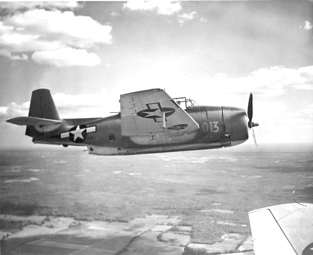 TBM-1C Avenger in flight,