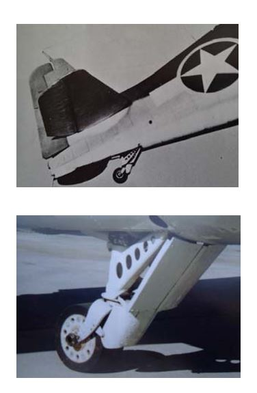 Photos of Intact Tail Wheel Assembly From Walk Around 9: F6F Hellcat, Squadron/Signal Publications