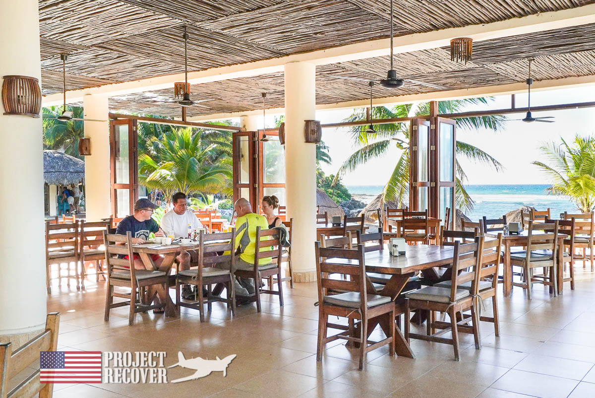 Local restaurant used as briefing room for mission planning during BentProp and Project Recover's WWII MIA Search training. Photo by Harry Parker Photography.