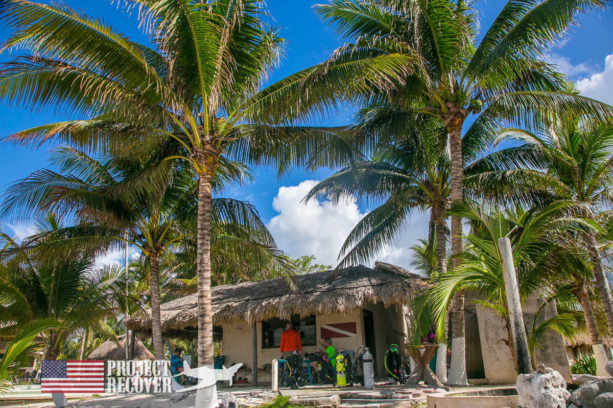 Best little local dive shop in Mexico during BentProp and Project Recover's WWII MIA Search Training. Photo by Harry Parker Photography.