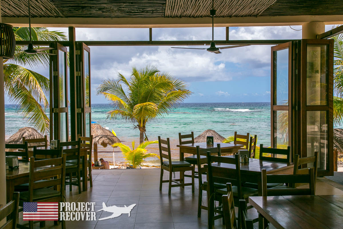 Restaurant with a view during Bent Prop and Project Recover Dive Training for WWII MIA Search .Photo by Harry Parker Photography.