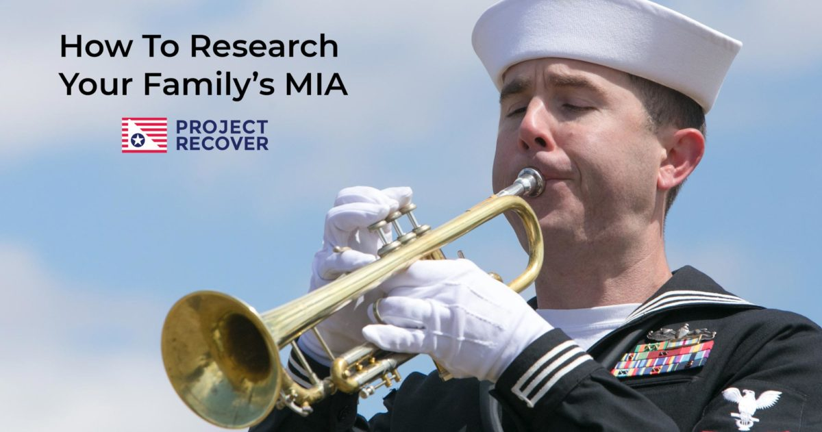Bugler Plays Taps - How to Research your Family MIAs Military Records