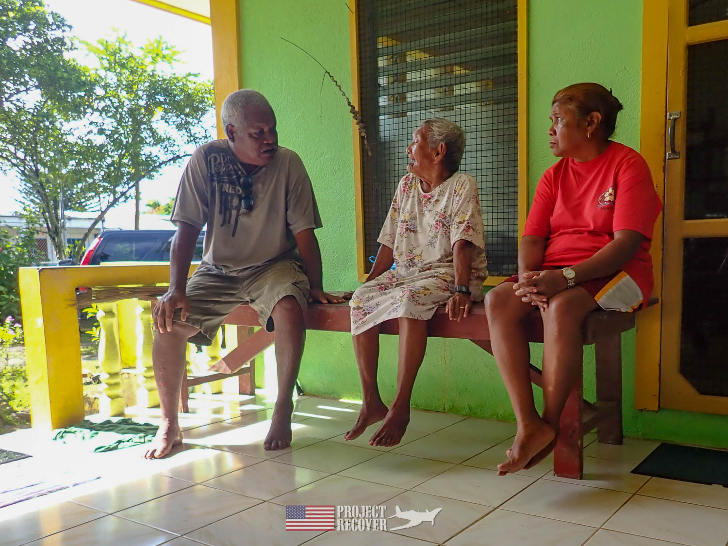 Interviewing elders. Execution of WWII POWs and Innocents in Palau - Project Recover is committed to bringing the MIA home. Photos by Harry Parker Photography.com
