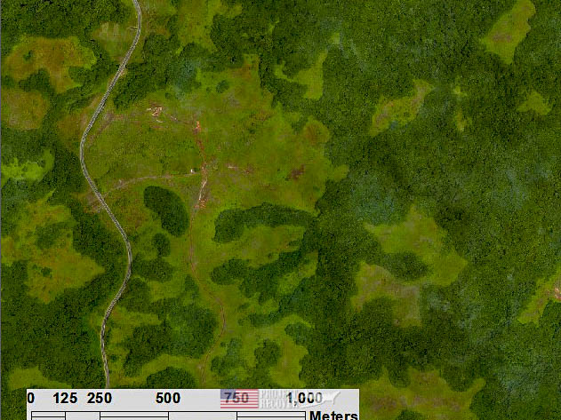 aerial photo of Police Hill, Palau. Execution of WWII POWs and Innocents in Palau - Project Recover is committed to bringing the MIA home. Photos by Harry Parker Photography.com