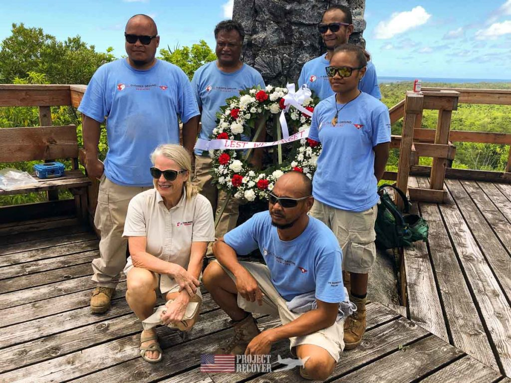 Cleared Ground Demining hosted ceremony recognizing 75th Anniversary of Battle of Peleliu.