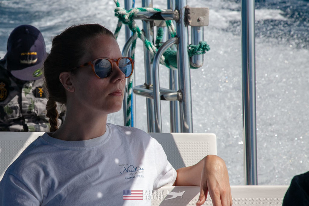 Megan Lickliter-Mundon, Ph.D., has been co-leading Project Recover surveys for 3 years. She is an archaeologist who specializes in underwater aircraft sites.