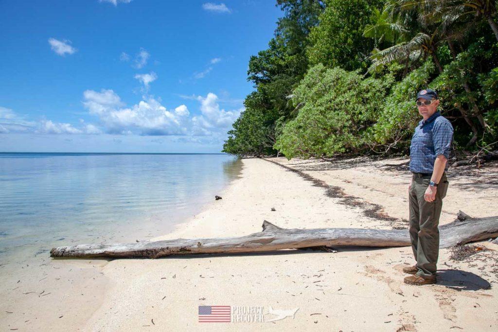 Dave Bavencoff on Orange Beach, Peleliu