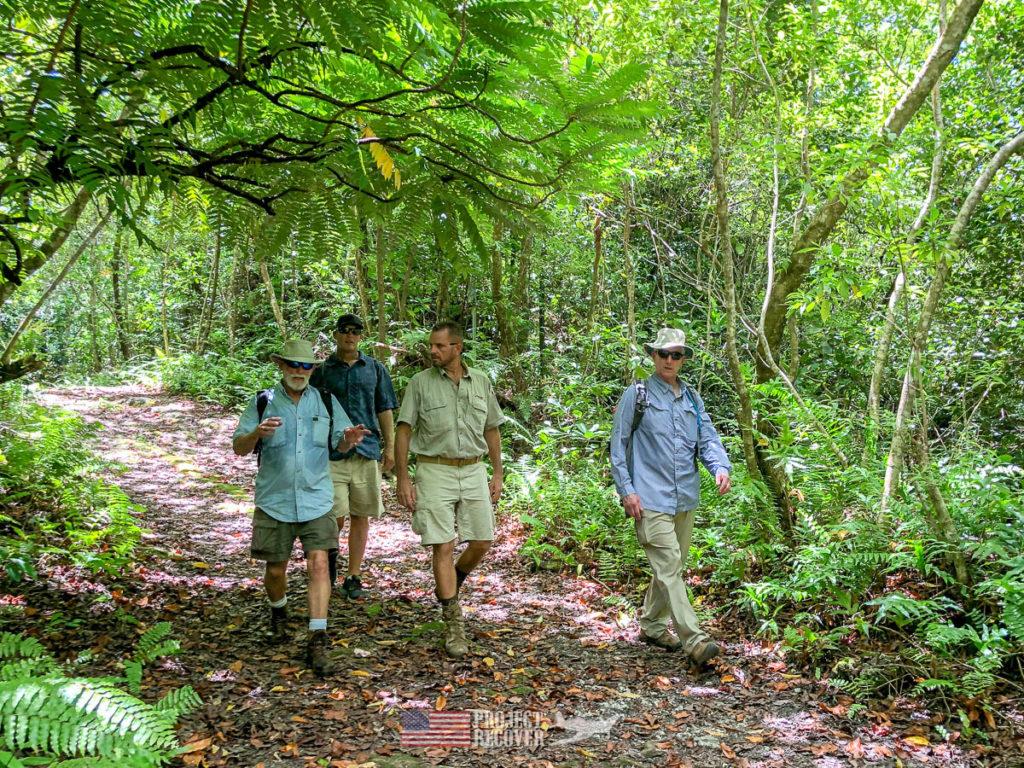 Jungle trail in Peleliu