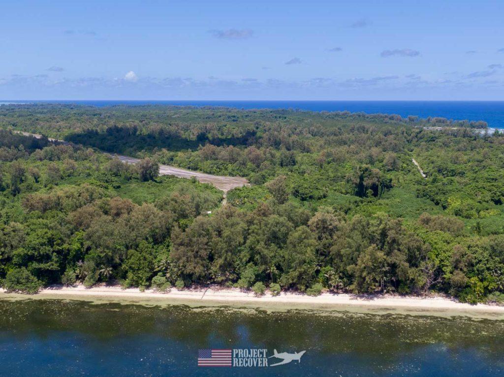 Aerial photo of Orange Beach, Peleliu.
