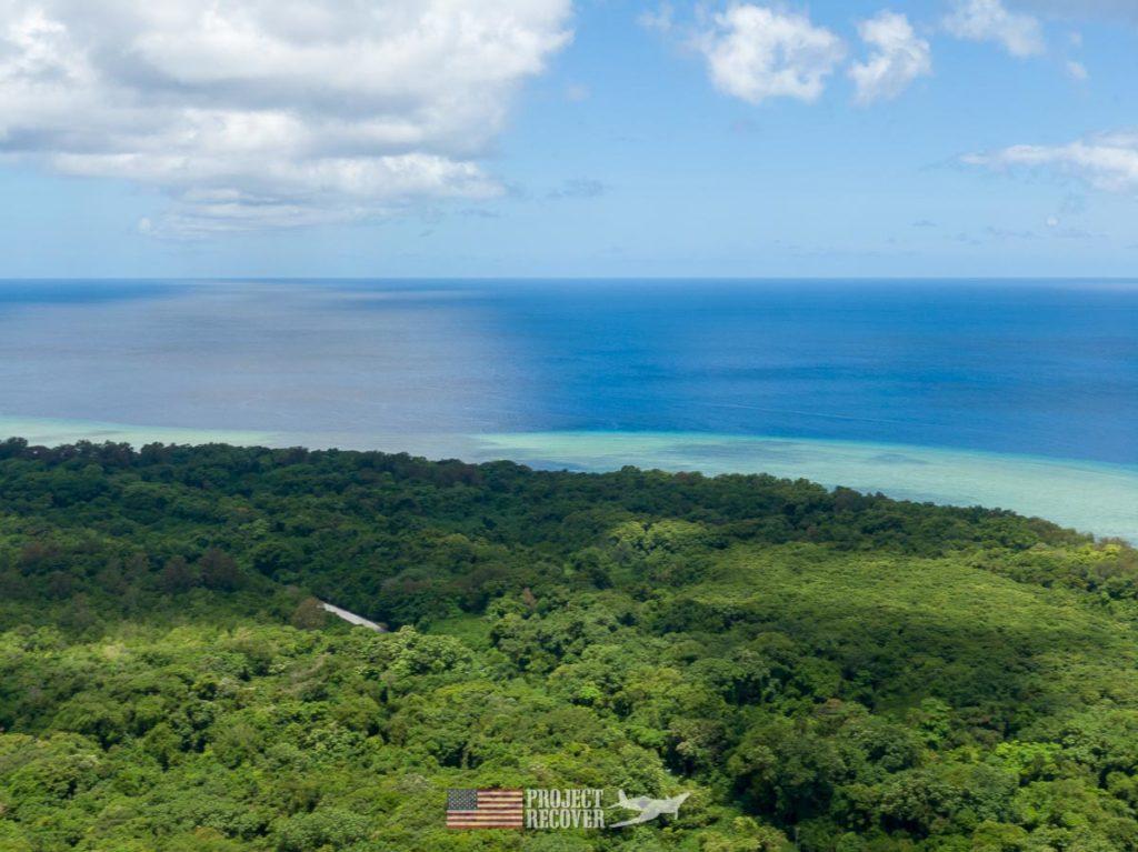 Aerial view of Peleliu Island