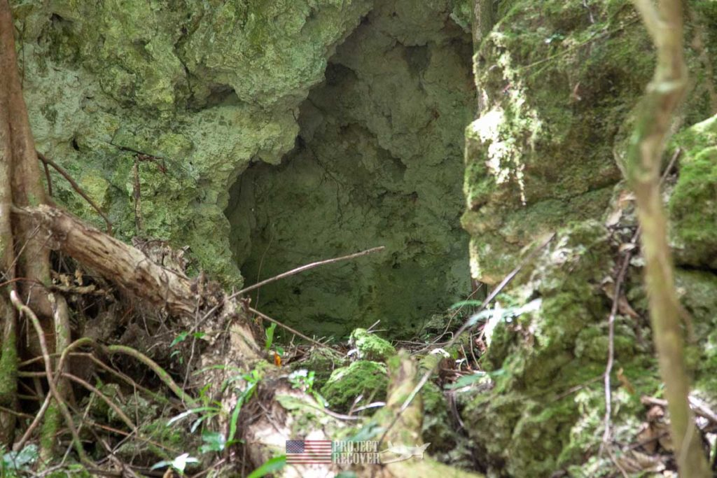 Sealed WWII Japanese cave on Peleliu