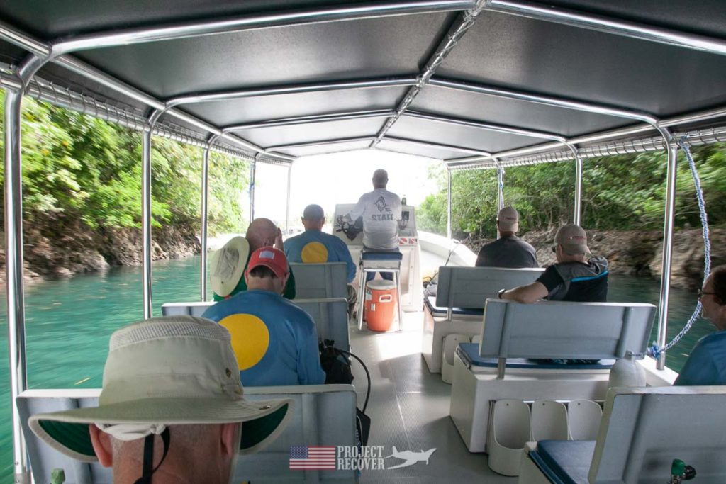 MIA Family and Project Recover team on tour of Rock Islands in Palau. Photo by Harry Parker Photography.com