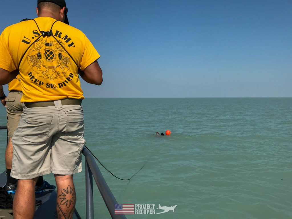 Project Recover searches for A-6E wreckage off Kuwait. Photo Credit: UDEL/Project Recover
