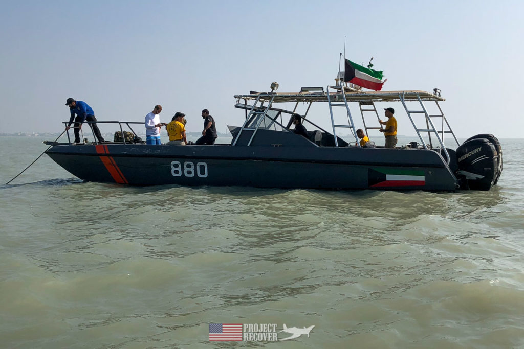 This is the small chartered boat Project Recover used to search for A-6E wreckage off Kuwait. Photo Credit: UDEL/Project Recover