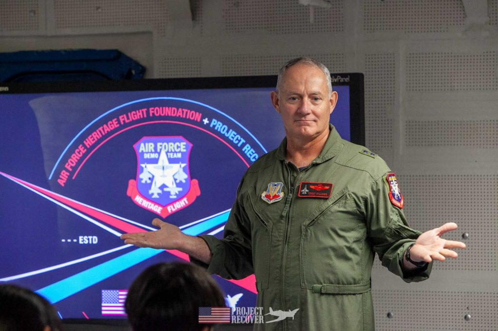 Tommy Williams, USAF Major General (retired): F-16 pilot, Heritage Flight warbird pilot teaching students aboard USS Midway