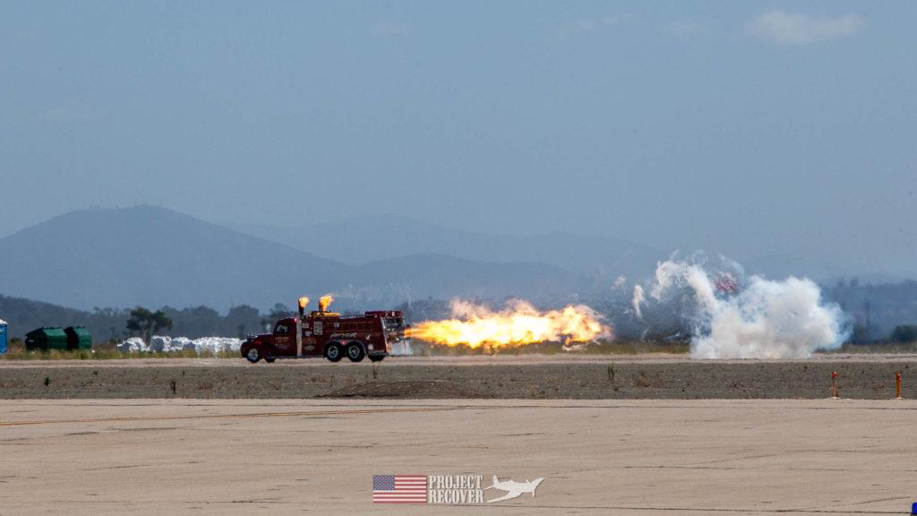 jet truck on runway