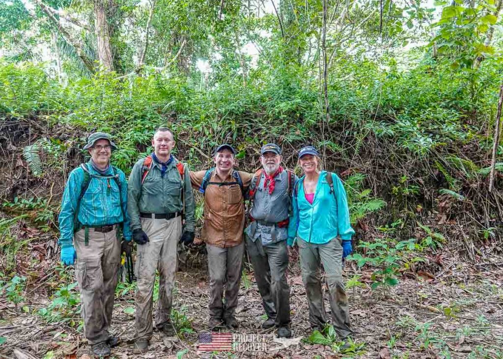 group photo after hiking in palau jungle