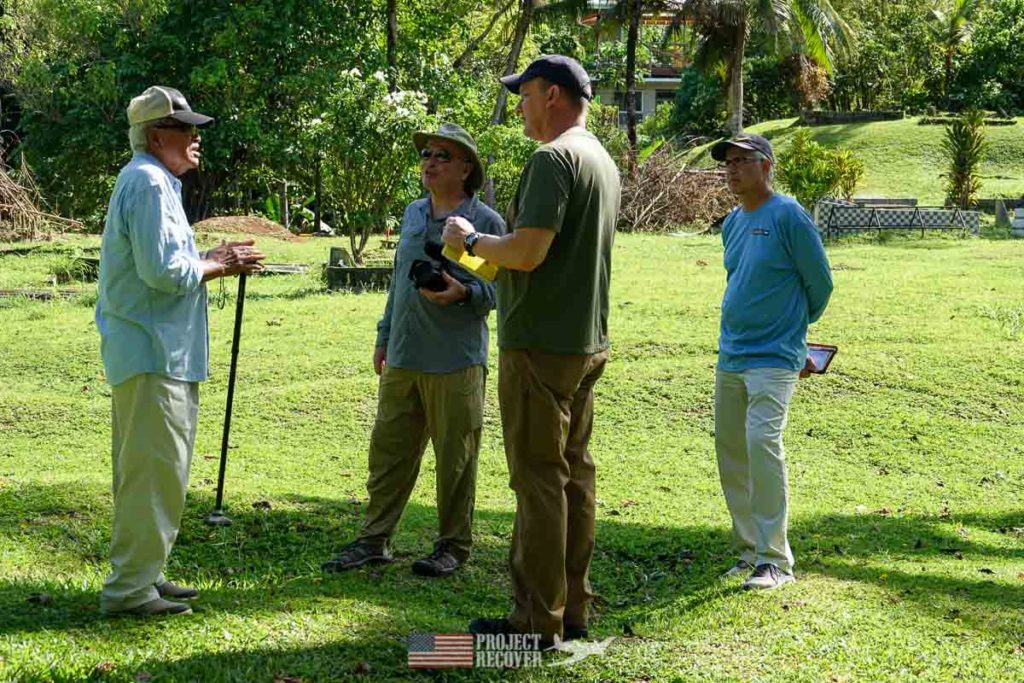 group meeting in palau cemetery