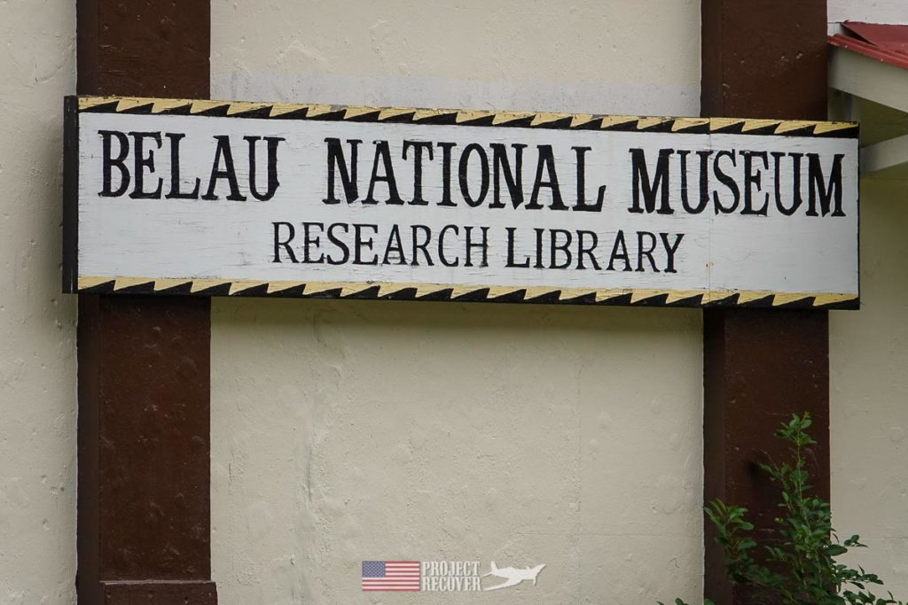 the sign for the belau national museum