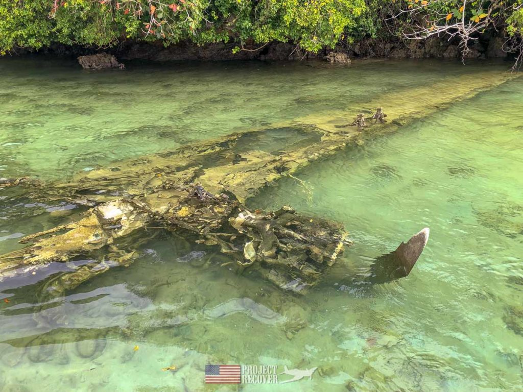 WWII B24 wing in Palau Islands