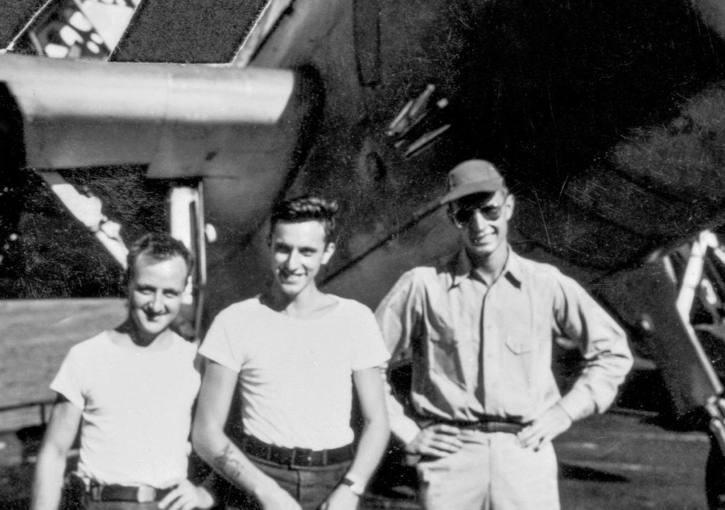 Former President Bush with Flight crew