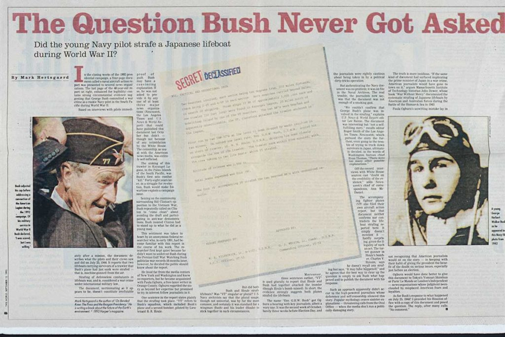 Magazine article President George H.W. Bush