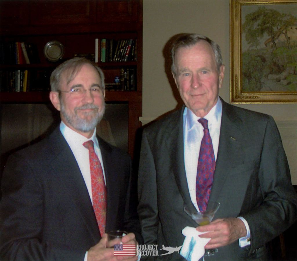 Pat Scannon meets President George H.W. Bush