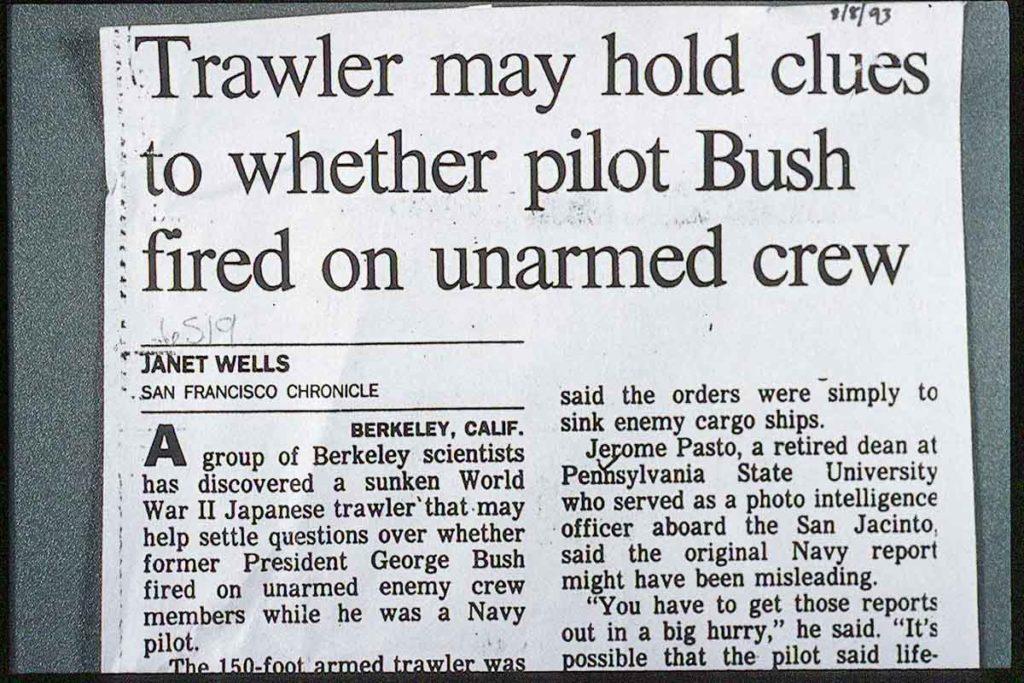 President GHW Bush Trawler found