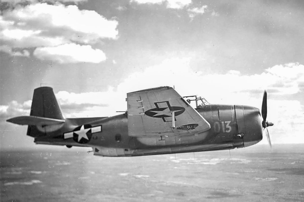 WWII TBM Avenger over Pacific