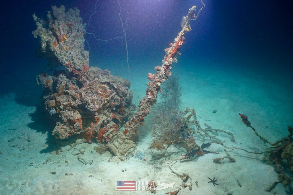 WWII Missing In Action MIA TBM Avenger Plane Wreck in Palau