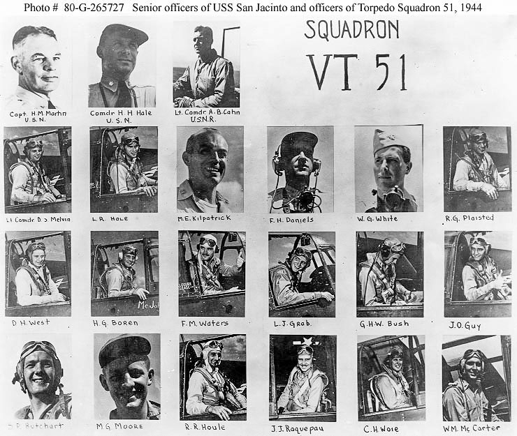 WWII Squadron VT 51 Group Photo pilots 1944