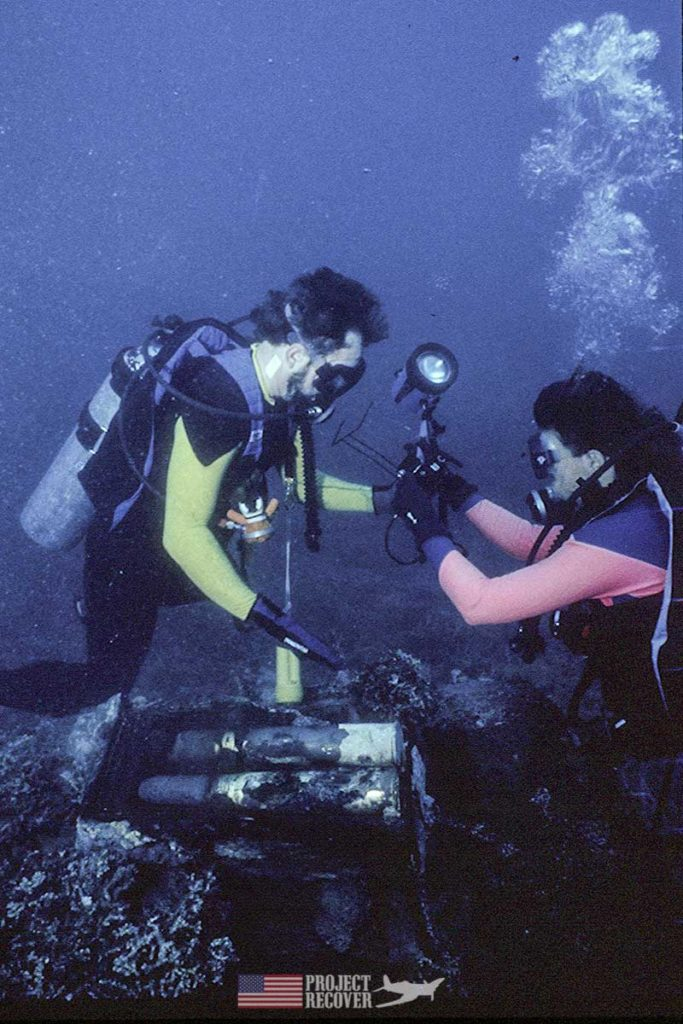 Pat Scannon explores WWII Japanese trawler sunk by Pres. G. H. W. Bush